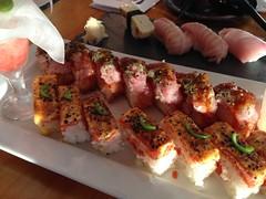 Aburi Salmon and Toro Sushi (A. Wee) Tags: canada vancouver sushi salmon aburi kishimoto 溫哥華 加拿大 壽司