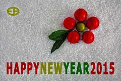 ... HAPPYNEWYEAR2015 (*melkor*) Tags: light red white snow macro green art fruits postcard salt experiment newyear minimal greetings conceptual leafs fakesnow lightbox 2015 melkor freepostcard trashbit smallfruits