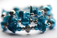 All that glitters..... (PhotosbyDi) Tags: blue jewellery bracelet bling hmm baubles allthatglitters nikond600 macromonday happymacromonday tamronf2890mmmacrolens