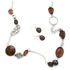 5th Avenue Brown Necklace P2330-2