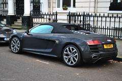 Audi R8 V10 Spyder (CA Photography2012) Tags: ca london car photography spider united engine kingdom convertible automotive knightsbridge spyder exotic german kensington audi mayfair lamborghini rs supercar spotting v10 52 sportscar r8 fsi lambo belgravia ye11nyz
