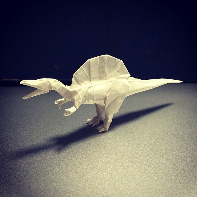 Spinosaurus Origami Dinosaur Joigami Tags Origamidinosaur