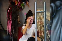 Pain (Shay Tal) Tags: street city people urban girl dreadlocks mom israel telaviv kid tears tel aviv crying mother streetphotography cry