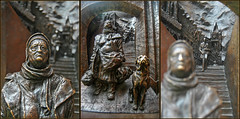 travel sculpture dog london station architecture eurostar homeless victorian railway frieze paulday meetingplace streetsoflondon bagwoman sirgeorgegilbertscott stpancrasinternationalstation