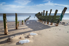 Spurn Head (Draws_With_Light) Tags: winter sea beach water season landscape seaside structures places scene coastline filters groynes spurnhead lee09ndhardgrad leebigstopper