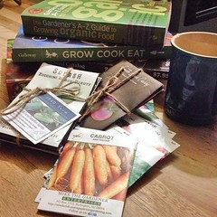 "This morning, I'm finalizing the selections for this year's 1840 Farm Heirloom Seed Collection.  I can't wait to add these collections to our shop and start sharing the stories behind each heirloom variety with you. I think that our 2015 collection will b • <a style=""font-size:0.8em;"" href=""http://www.flickr.com/photos/54958436@N05/16153454310/"" target=""_blank"">View on Flickr</a>"
