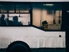 #24 (miemo) Tags: travel winter people bus window wheel stpetersburg europe traffic russia olympus dirty passengers dirt omd em5 panasonic1235mmf28