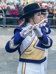 3280 University of Northern Iowa Panther Marching Band flute (steeljam) Tags: new london nikon university day circus year band piccadilly iowa parade marching years northern panther d800 steeljam