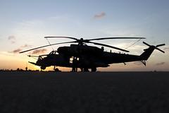 Sabre at Sunset... (Tony Osborne - Rotorfocus) Tags: sunset brazil fab natal force exercise air flight sabre brazilian hind mil ah2 2013 cruzex mi35 mi35m