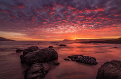 Magenta Cast on South Bruny Island (Orange Orb Photography) Tags: sunset beach water rocks shoreline headlands tasmania brunyisland cloudybay