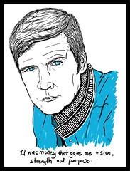 """""""Steve"""" (alfie lee) Tags: portrait art digital drawing steveaustin sixmilliondollarman alfielee alfieleeart alfieleepaintings"""