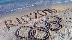 062708319-rio-2016-inscription-sand-beac (daria.boteva) Tags: world brazil game beach water beauty lines childhood silhouette sport rio horizontal riodejaneiro composition writing handwriting outdoors design team sand message symbol drawing background text year wave competition nobody nopeople newyear ring clean number international brazilian olympics script drawn athlete simple handwritten advertizing olympicgames competitions 2016 olympicrings summergames rio2016