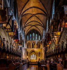 St Patrick's Cathedral Dublin (davidjhumphries) Tags: city ireland light dublin building church glass st architecture canon hall candle arch cross cathedral god pray gothic arc chapel indoor religon stained altar aisle sacred l 5d series column vault patricks vaulted 1740mm mkii 0516 2016 5dmkii 02052016