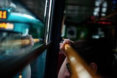 253/365 Hold On (ewitsoe) Tags: life street city urban woman lady 35mm living ride metro tram poland polska rail transit commuter 365 pozna poznan nikond80 ewitsoe