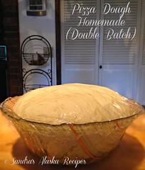 Sandra's Alaska Recipes: SANDRA'S PIZZA DOUGH HOMEMADE (Double Batch) recipe... (sandrasalaskarecipesphotographyretail) Tags: alaska crust photo image dough pic pizza crispy homemade recipes sandras doublebatch