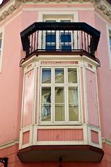 Pink Balcony (Massimo Usai) Tags: travel architecture europe tallinn estonia balcony balticsea baltic pick