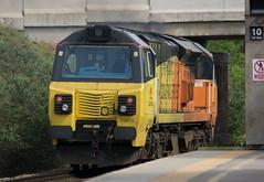 COLAS RAIL 70805 OD67 (S H JOHNSON 1980) Tags: black yellow diesel railway locomotive friday orang loughborough 70805 platform3 class70 colasrail 1745pm 1345pm bescotupengineerssdgs brushtractiondepot 27052016 8early doncasterdcesdgs