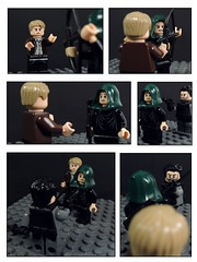 The Promise Part 1 (MrKjito) Tags: green fight comic ship oliver lego brothers queen wilson arrow minifig yu ivo lian slade betrayel