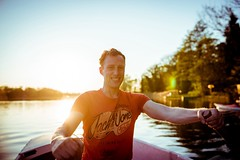 towards the sun. (Paul Reusch Photography) Tags: friends light sunset summer sun art water youth 35mm germany photography nikon mood friendship outdoor lifestyle sigma rowing colourful brandenburg neuruppin jackjones availeblelight sigmaart