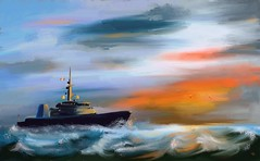 HMCS Brandon (Pat McDonald) Tags: sea canada storm waves ship pacific navy sailor fleet artrage gibraltar atlanticocean royalnavy grandharbour roughseas mackenzieking heavyweather royalcanadiannavy hmcsbrandon whiteensign harryroughers