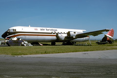 G-APEJ-1-EGNX-MAY1995 (Alpha Mike Aviation Photography) Tags: east ajax ema vanguard midlands vickers airbridge merchantman egnx gapej