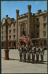 "Archiv EE907 ""The Color Guard U.S. Military Academy West Point, N.Y., 1960er (Hans-Michael Tappen) Tags: usa ny us postcard parade 1960s academy amerika garde westpoint uhr colorguard militr postkarte 1960er vereinigtestaatenvonamerika fahnentrger usmilitaryacademy archivhansmichaeltappen"
