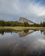 Lembert Dome in Yosemite's Tuolumne Meadows (Jeffrey Sullivan) Tags: california travel copyright usa reflection jeff nature weather rock clouds canon landscape photography eos photo pond september formation dome granite sullivan sierranevada tuolumnemeadows 2016 lembert tiogapassroad 5dmarkiii