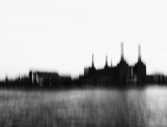 Battersea Power Station - London Urban Landscape Photography (Nicholas Goodden) Tags: urban blackandwhite bw abstract london monochrome station thames landscape photography cityscape power view famous landmarks motionblur battersea touristic urbanphotography