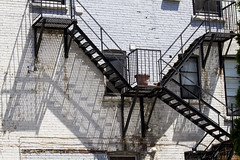 Fire escapes and shadows (jer1961) Tags: shadow toronto stairs fireescape whitebrick