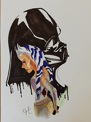 The Master and the Apprentice (Dulce_dream) Tags: starwars darthvader anakinskywalker darkvador ahsoka starwarstheclonewars ahsokatano starwarsrebels