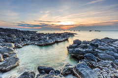 _MG_0424-Edit (Nguyn nh Thnh) Tags: longexposure sunset sea mountain water sunrise rocks asia seascapes cloudy vietnam filter asean quangngai lyson singhray thachkydieutau