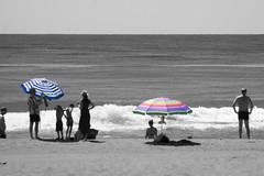 Torremolinos Beach 2016 (eskippyskip) Tags: summer torremolinos andalucia andalusia andalusien spain espaa eskippyskip spanien sea malaga mediterranean mar agua water splash coloursplash colorsplash sand beach parasol blackandwhite