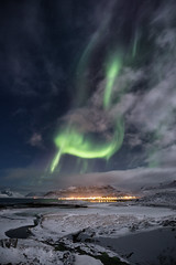 The Robin (Lance Sagar) Tags: winter lake storm mountains cold green ice robin night canon river stars lights solar frozen iceland wind freezing atmosphere science astro astrophotography aurora northern kirkjufell borealis 6d neutrino magnetosphere celectial kirkjufellsa