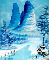 DSCF1264syoumei (okamuraissey) Tags: windblown snow view grove katsura trees
