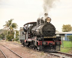 1908 PB15 class numbered 448 shunting Bundamba siding. (Photos by Lance) Tags: traindriver outdoor steamlocomotive steamloco steamtrain steamengine railroad railfans tracks heritagerailway heritagetrain smokeandsteam 1908pb15