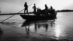 We the people (Arun kumar | Photography) Tags: people blackandwhite music black monochrome river photography boat we boatman arun kumar arunkumar arunkfotography arunkphoto