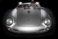 Born to Run (ISP Bruno Laplante) Tags: classic 1955 car sport race vintage silver james dean fast headlights front spyder porsche end 550