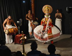 Kathakali artistes performing at Margi Cultural Centre in Thiruvananthapuram on Friday night. (legend_news) Tags: thiruvananthapuram kerala india kathakali artistes performing margi cultural centre friday night