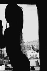 Window View (Vintagefiend) Tags: blackandwhite silhouette contrast portraits dramatic highcontrast portraiture simplicity highkey minimalism suggestive