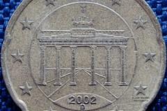 Coin 20 cents  from Germany (gorrarroja) Tags: espaa macro valencia spain coin moneda macrophotography macrofotografa