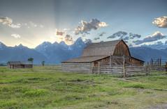 Mormon Row Sunset (Mr. Jason Hayes) Tags: sunset barn row mormon wyoming teton jacksonhole mormonrow