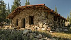 Parsons Memorial Lodge (LeftCoastKenny) Tags: yosemitenationalpark tuolumnemeadows building stones boulders rocks logs trees grass