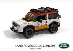 Land Rover DC 100 Concept (lego911) Tags: land rover dc 100 dc100 concept suv 4x4 4wd offroad landie truck auto car moc model miniland lego lego911 ldd render cad povray 2011 2010s uk england british lugnuts challenge 105 thegreatoutdoors great outdoors cross country foitsop
