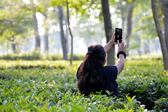 The Selfie Girl (R!shiR!ch) Tags: selfie girl outdoor photography teagarden northeastindia travelphotography