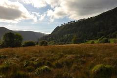 Welcome To Glendalough #glendalough #ireland #green #wicklow (mac d-ski photography) Tags: nature glendalough ireland wicklow green grass trees panoramic beautiful clouds sky dof blue