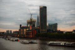 Dusk at the South Bank (Kirsi L-M) Tags: dusk london oxotower southbank southbanktower thames theseacontainers uk theshard