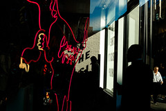 (Michelle Rick) Tags: westbroadway allrightsreserved gothamist color shadow soho silhouette window store neon 2016 michellerick nyc street streetphotographers streetphotography