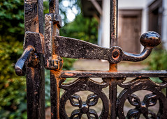 Latch (Karol A Olson) Tags: gate latch iron annapolis maryland sep16 115gateorgates 116picturesin2016