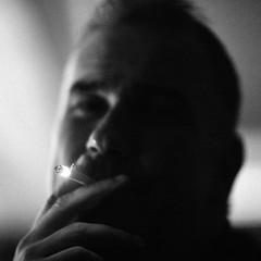 The Last Smoke (N A Y E E M) Tags: bjrnhrberg swedish executivechef cigarette smoke portrait baikalbar radissonblu hotel night chittagong bangladesh square cropped availablelight indoors handheld friend waistlevel
