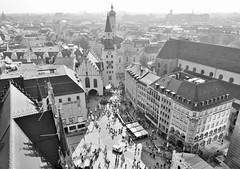 Mnchen , Germany (adr.vesa) Tags: mnchen munich bw city cityscapes landscapes panorama marienplatz bavaria bayern germany